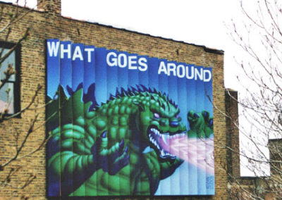 ZIGZAG MURAL • What Goes Around, Comes Around; Studio Building, Chicago