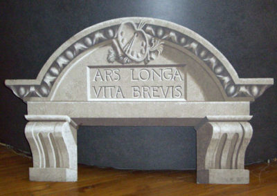 """ARS LONGA • VITA BREVIS""; Cut-Out Arch"