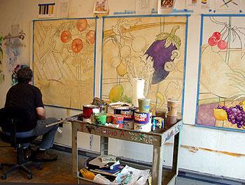 FOODTOPIA • Paintings in-progress