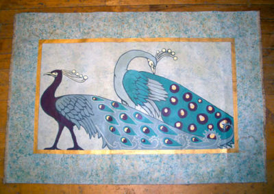 PEACOCK FLOOR CLOTH