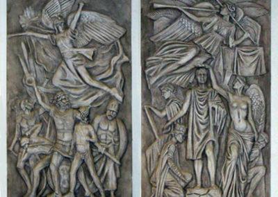 ARC DE TRIOMPHE; Detail of Cast Fiberglass Bas-Reliefs
